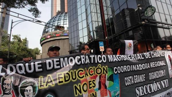 Maestros mexicanos en paro hasta alcanzar diálogo con Gobierno