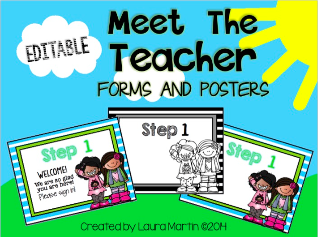 Great Back to School ideas for Meet the Teacher and Open House