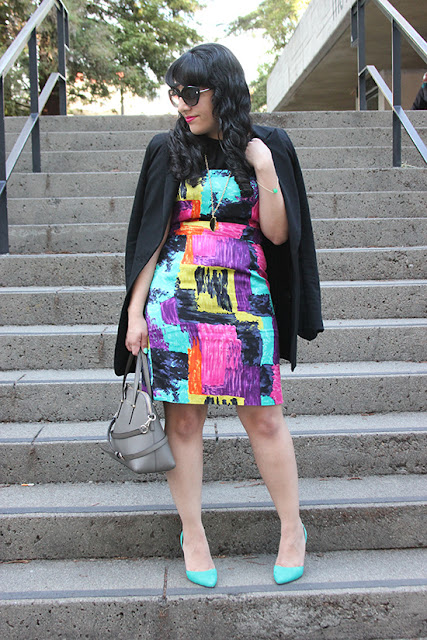 Blazer and Sheath Dress Office Style Inspiration Blogger Outfit