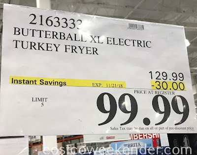 Deal for the Butterball XL Electric Turkey Fryer at Costco
