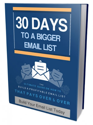 How to create email list in 30 days - Free ebook