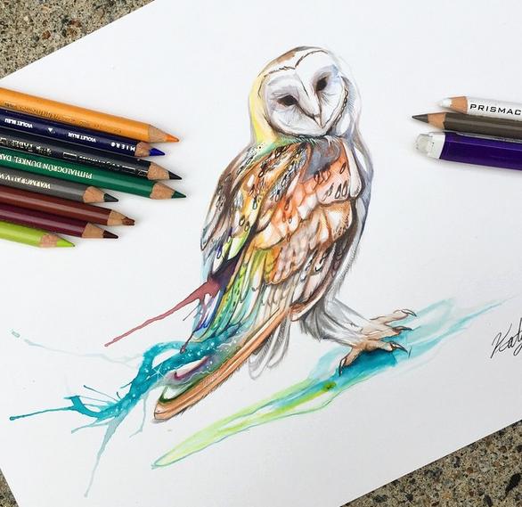gambar keren kreatif dan menarik dengan menggunakan pensil warna-5