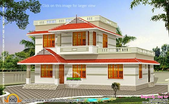 Low cost double storied home