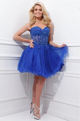 Vestidos cortos azules