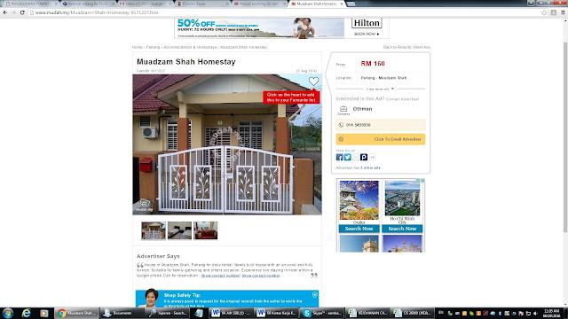 Homestay di Muadzam Shah Pahang