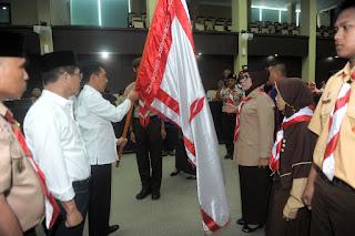 Ishak Mekki Lepas 707 Kontingen Jamnas X Ke Cibubur Jakarta