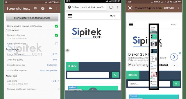 aplikasi screenshot android tanpa menekan tombol