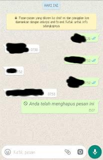 Cara menggunakan fitur menghapus chat whatsapp