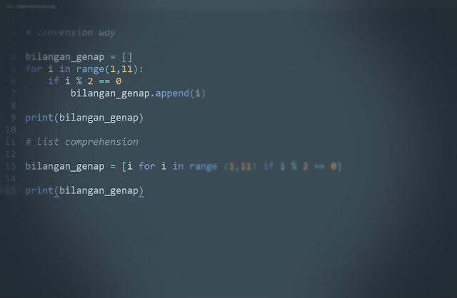 Cara Loopin Satu Baris pada Python