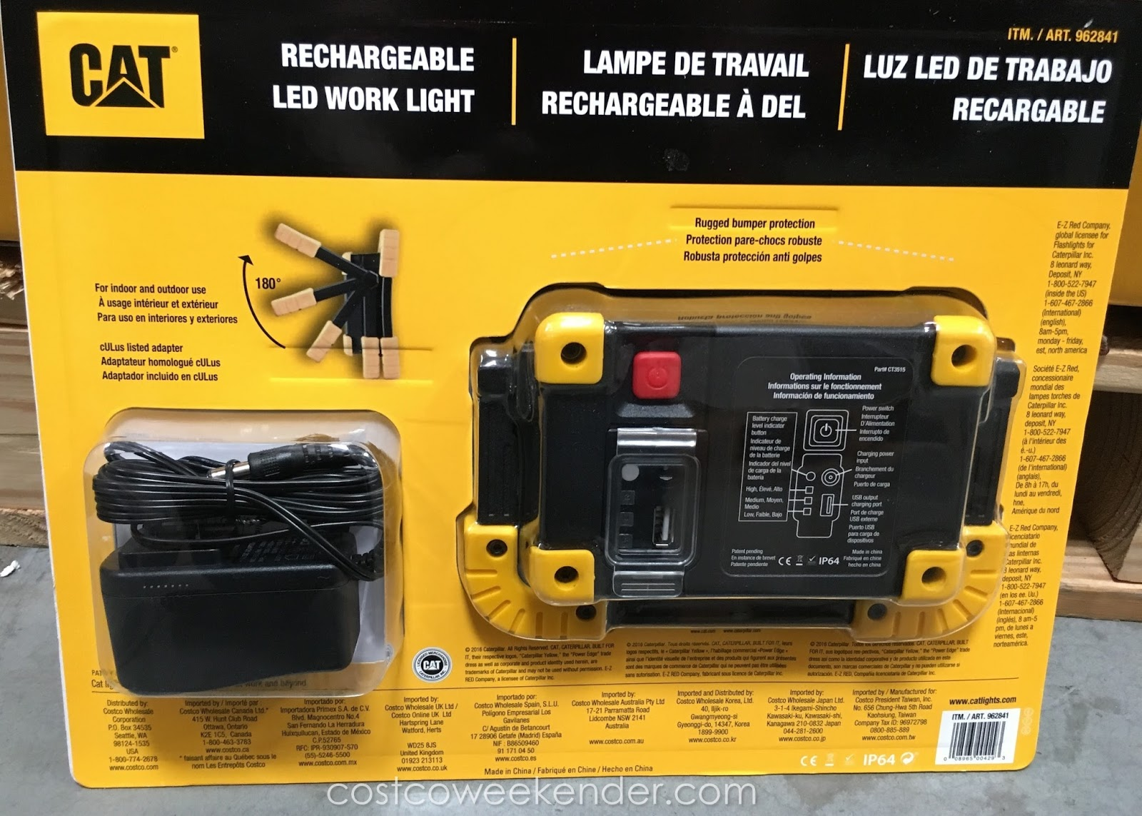 Led Cat Work Lights : Cat rechargeable led work light costco weekender