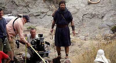 Christian Bale (Moise) pe platourile de filmare pentru Exodus