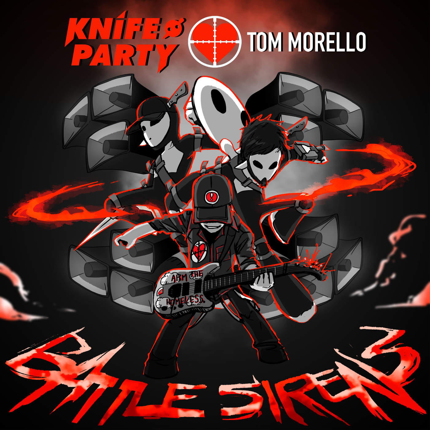 Knife Party & Tom Morello - Battle Sirens - Single Cover