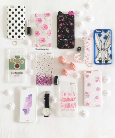 creative iPhone cases flatlay