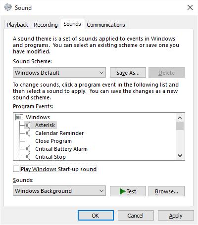 ääniasetukset Windows 10