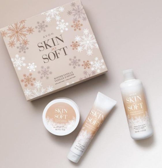Avon Skin So Soft Winter Vanilla Collection #ad