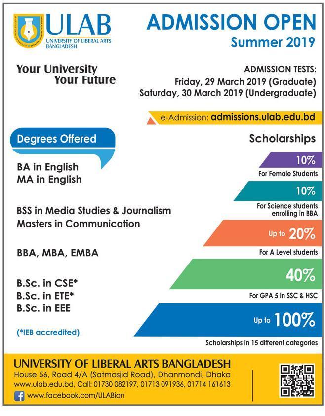 ULAB Admission Summer 2019