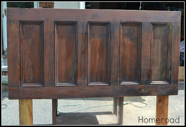 How to make a headboard from an old door.