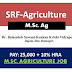 JRF Recruitment | M.Sc Agriculture |  Horticulture | Forestry