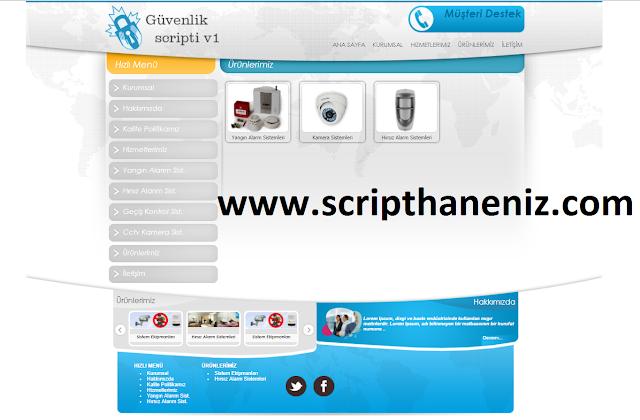 Güvenlik Scripti Ürünler Sayfası