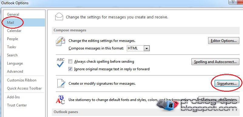 configurare semnatura pentru email HTML in Outlook