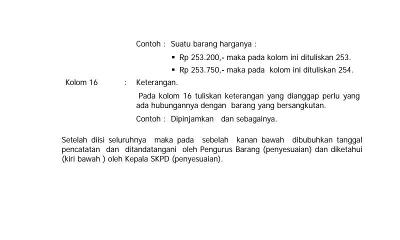 Panduan Cara Pengisian Kartu Inventaris Barang (Kib) B Peralatan DanMesin Dan Contoh Inventaris Sekolah