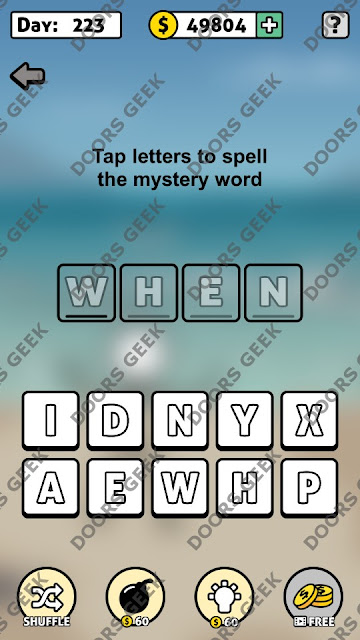 Words Story Day 223 Answer, Cheats, Solution