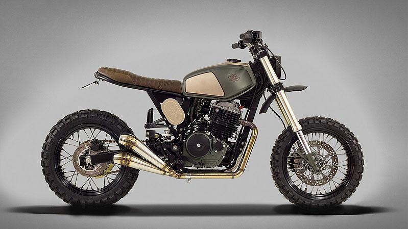 generation bobber honda fmx 650 umbau von ton up motorcycles. Black Bedroom Furniture Sets. Home Design Ideas