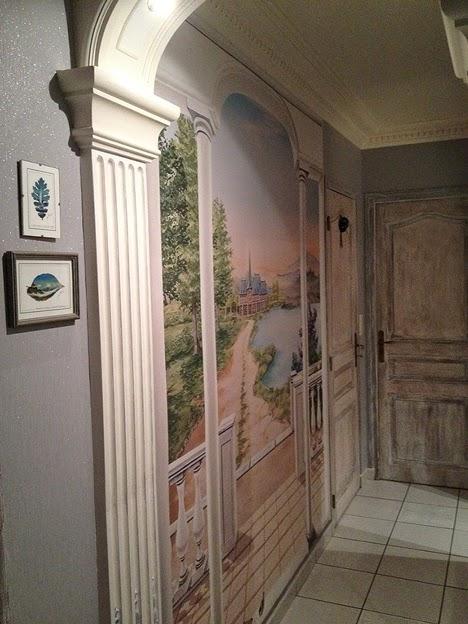 le blog belmon d co nos d cors trompe l 39 oeil chez nos clients. Black Bedroom Furniture Sets. Home Design Ideas