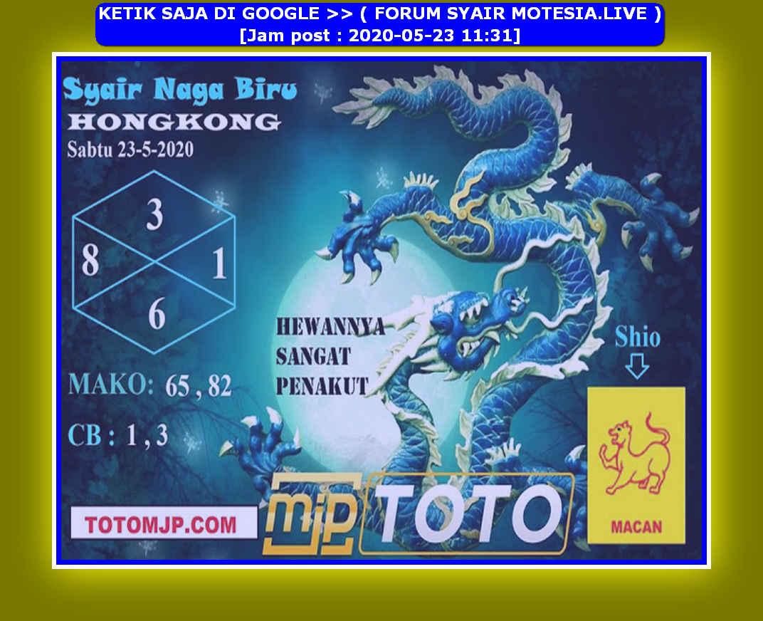 Kode syair Hongkong Sabtu 23 Mei 2020 208