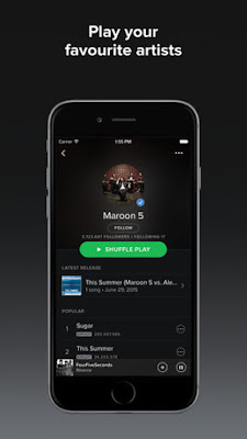 spotify müzik iphone indir