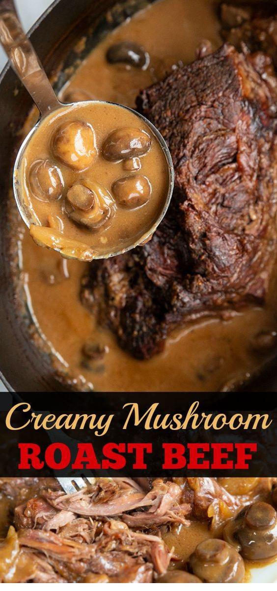 Creamy Mushroom Beef Chuck Roast Recipe