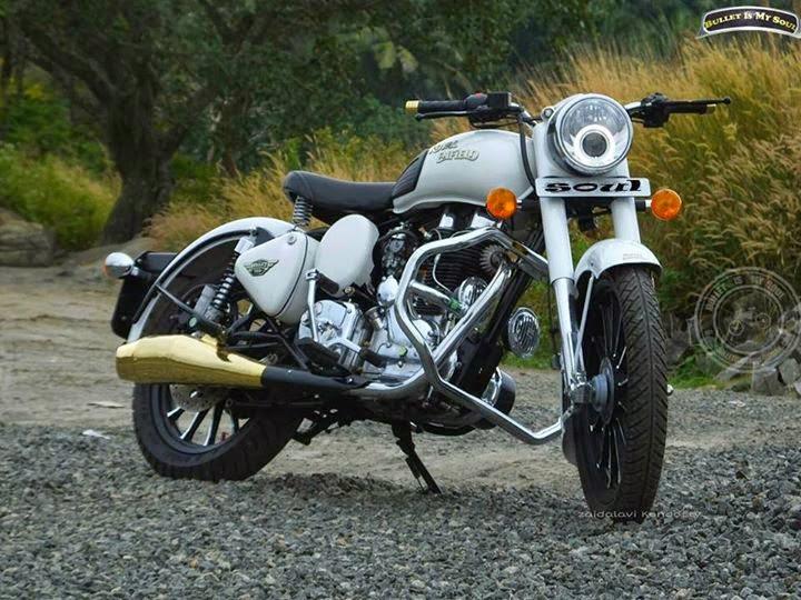 Modified Bullet Classic 350 In Kerala