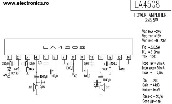 60w power audio amplifier based on tda2052 circuit diagram