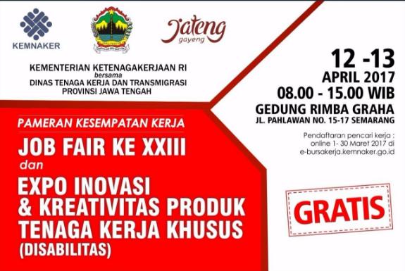 Acara Bursa Kerja Daerah 2017 - Kota Semarang, Jawa Tengah
