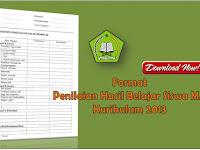 Format Penilaian Hasil Belajar Madrasah Aliyah(MA) Kurikulum 2013