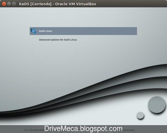 Drivemeca instalando KaOS Linux paso a paso