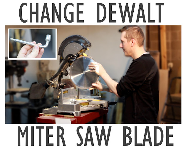 how to change dewalt miter saw blade, 12""