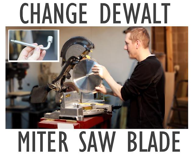 """how to change dewalt miter saw blade, 12"""""""