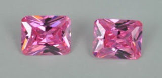 Pink Color CZ Stone Octagon Princess Cu