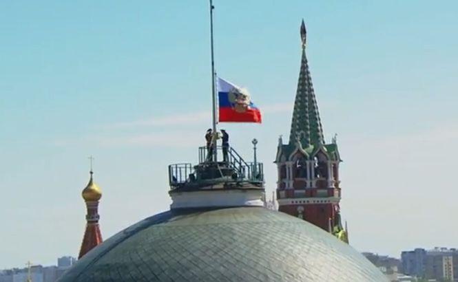 Над Кремлем не смогли поднять государственный флаг