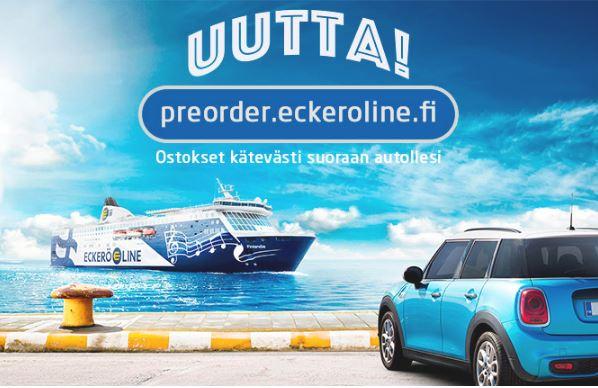 eckerö line, preorder & shopping, ostokset, laivatarjoukset