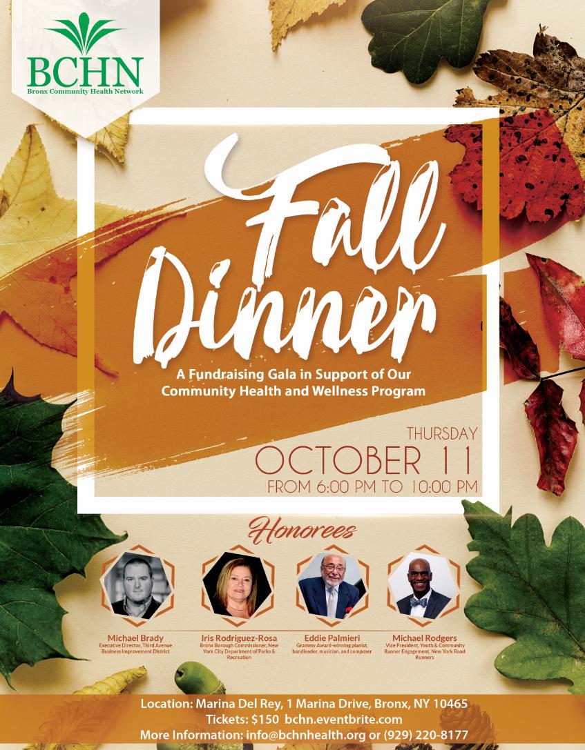 BCHN Fall Dinner Poster