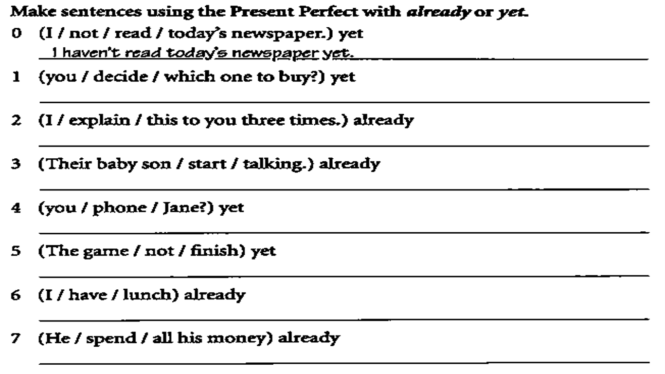 Maquilo S Blog Present Perfect Exercises