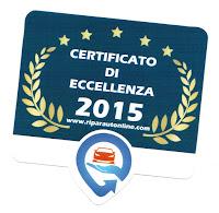 RAO - Certificato di Eccellenza 2015 Puntocar