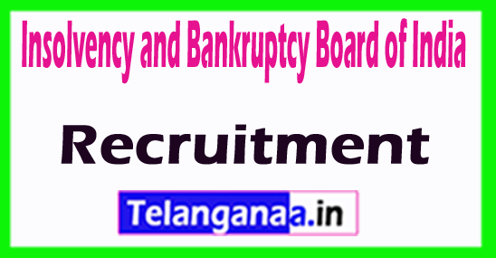 Insolvency and Bankruptcy Board of India IBBI Recruitment