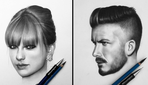 00-dhruvmignon-Celebrity-Miniature-Black-and-White-Pencil-Portraits-www-designstack-co