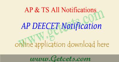 AP DEECET 2020 notification,ap dietcet application form 2020