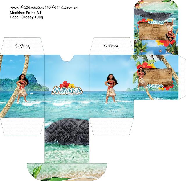 Moana Free Printable Box