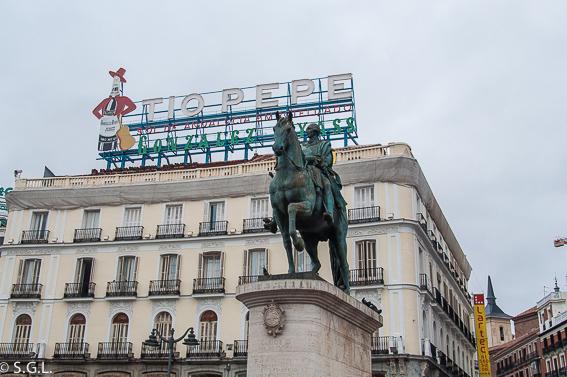 Cartel de tio Pepe. Ruta lowcost por Madrid