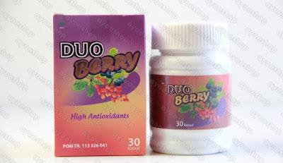 Suplemen Pelangsing dan Pemutih Duo Berry BPOM Original